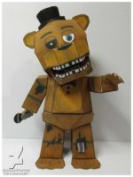 five nights at freddy's 2 old freddy papercraft by Adogopaper