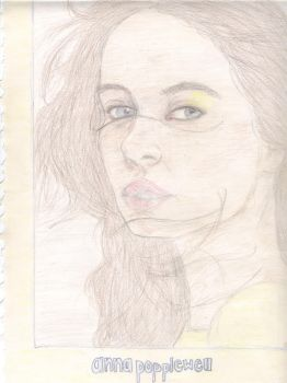 Anna Popplewell Drawing by NevsArt