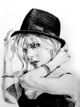Avril Lavigne in Fedora by halie-tee