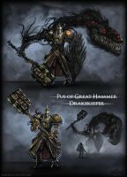 Pus of Great Hammer Dreake Keepers by vempirick
