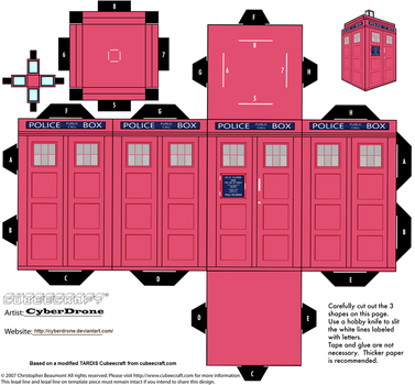 Cubee - Classic TARDIS 'Pink' by CyberDrone