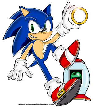 SA Sonic and items by xRubiMalonex