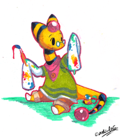 PKMNC - Painting Eggs by TamarinFrog