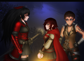 Ruby Rose - Generation Xerox with Raven and Vernal by LobbyRinth