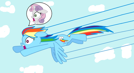 MLP authority swap #7 Rainbow and Sweetie Belle by TheWalrusclown