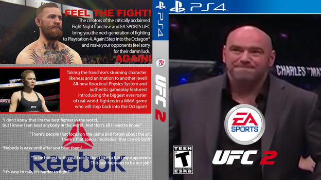 EA Sports UFC 2 PS4 Sad Dana Edition by monoheel