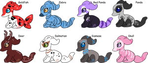 Paselchi Adoptables- Set 3 - closed by JB-Pawstep