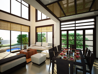Japanese Inspired Living Room by islawpalitaw