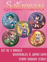 Sailormoon buttons by Hadibou