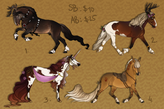 Unique horse adopts auction - CLOSED by Anonymous-Shrew