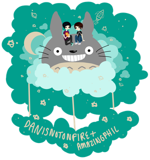 Dan and Phil TOTORO by Dgrayscythe21