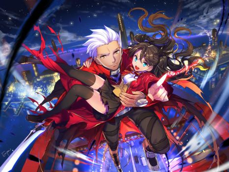 Fate Archer x Rin by empew