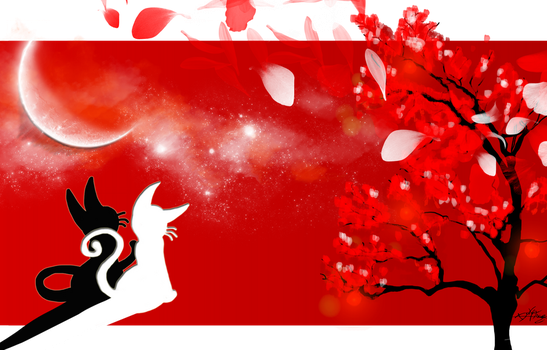 red petals and the white Moon by aku-3