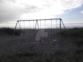 Swings on a Beach by Meebi