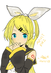 Disappointment Art #2~Older Rin Kagamine! by DisappointmentRao