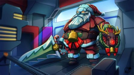 Mecha-santa by estivador