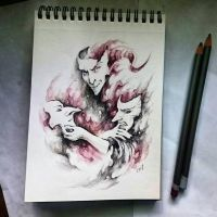 Instaart - Demon with masks by Candra