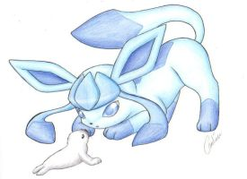 PKMN: Eeveelutions - Glaceon by Carro-chan