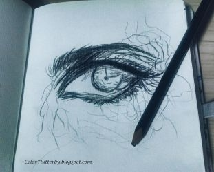 Eye in pencil by YamilyAlbrecht