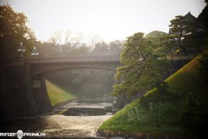 Japanese Imperial Palace Garden Bridge by raveka