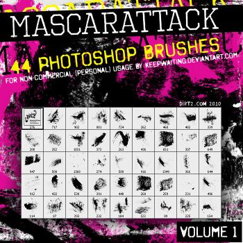 Dirt2 Mascarattack 44 Brushes by KeepWaiting