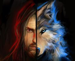 The Farseer Trilogy : Fitz and NightEye by Elsouille