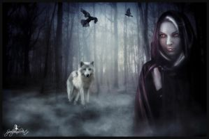 Wicked Red Riding Hood by SpellpearlArts