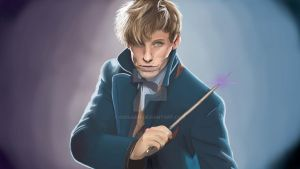 Newt Scamander by Giosaam