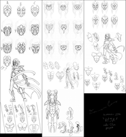 Kyja - Concept Sketches (1/2) by Satori-of-the-Forest