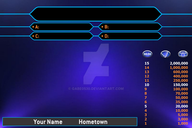 Who Wants To Be A Millionaire Contestant Screen by Gabe0530