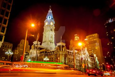 City Hall Love Park view by SkeIator