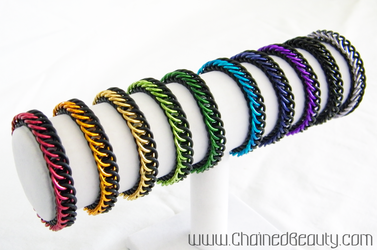 Stretchy Persian Bracelet Rainbow by ChainedBeauty