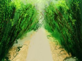Speedpaint #1 - Bamboo Forest by Pianodream