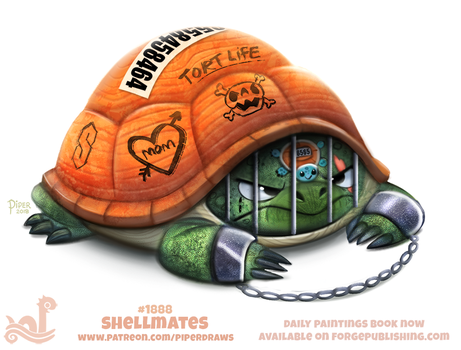 Daily Paint 1888# Shellmates by Cryptid-Creations