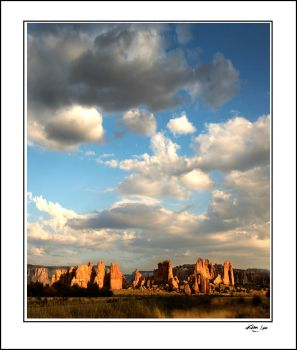 Acoma Rock Formations by kimjew