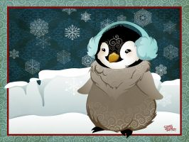 :winter wonderland: penguin by flashparade