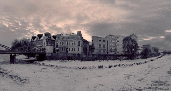 Panoramic view Timis river by Caskdacode