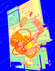 An astronaut by HAYMAKERS
