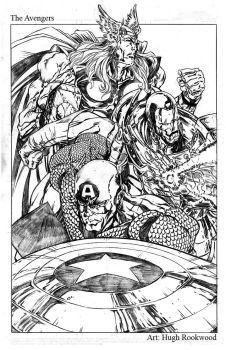 The Avengers - Pencils by Chozenstudios