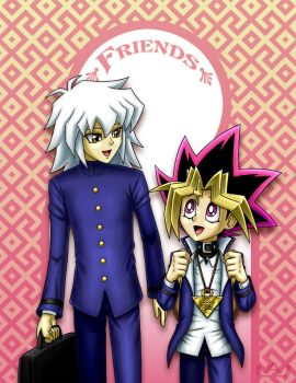 Ryou and Yugi: Friends by Red-Flare