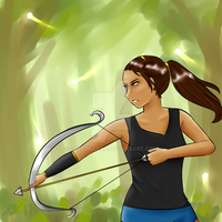 Archery - Jade Smith (DGM OC) by CryDontSmile