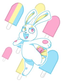 Pan Bunny by EbonyTails