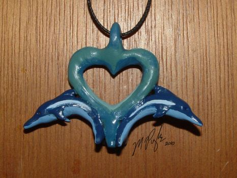 Dolphin Necklace by MelmelDraws
