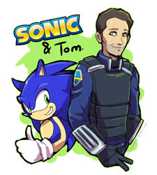Sonic and Tom - [SONIC the HEDGEHOG: The Movie] by Cylent-Nite