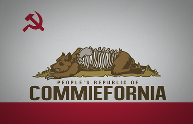 Commiefornia (State Flag) by BrianSamms