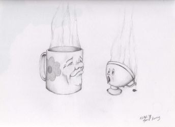Tea cup meets Coffee cup by Tukono