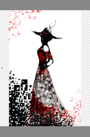 The Lady in the Red Dress by FantasyArt99