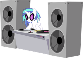 Vinyl Scratch Royal Wedding Vector by stimpyrules