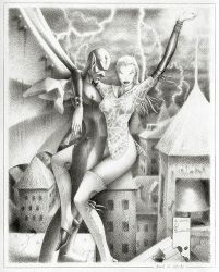 PenPainting AngelOfOldCity by muravei