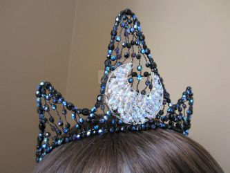 Princess Luna inspired tiara from My Little Pony. by RoseMoonBoutique